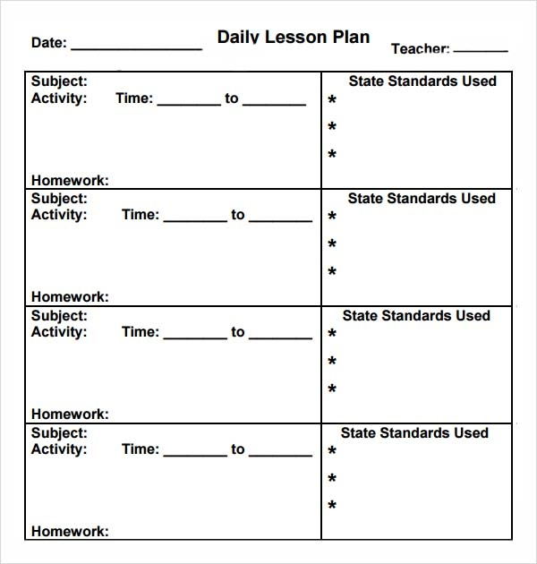 Preschool Lesson Plan Template   Download Free Documents In Pdf Word