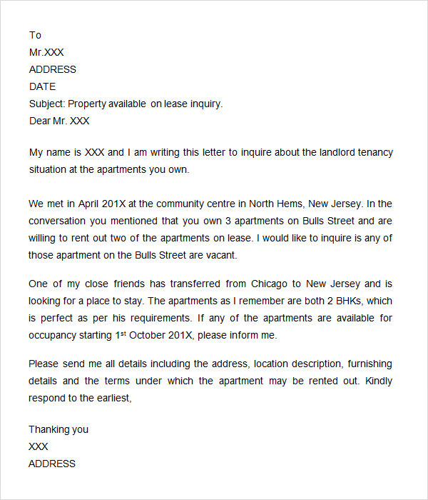 Inquiry Letter  Free Doc Download