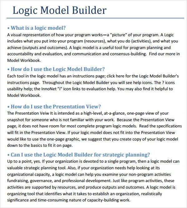 logic model builder template
