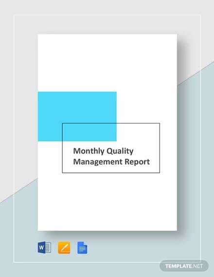 monthlu managemnet report