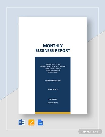 monthly business report2