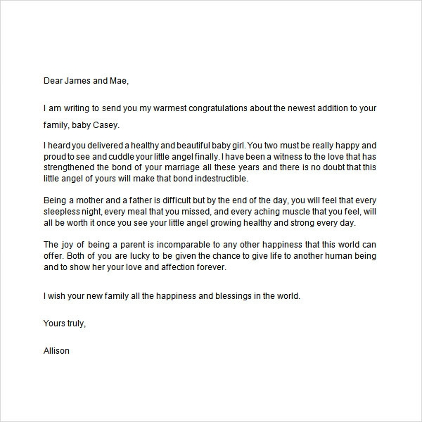Sample Congratulation Letter