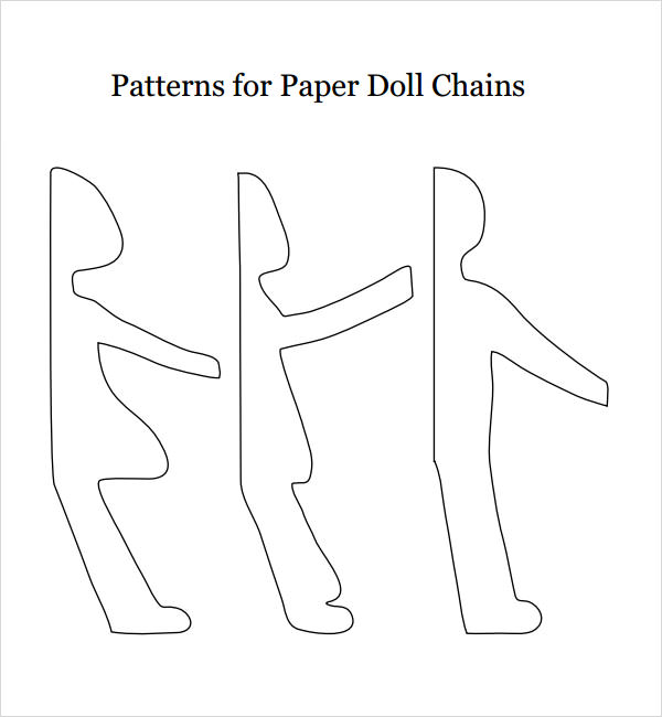 Paper Doll Sample   Documents In Pdf Word Eps