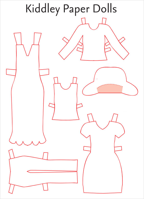 Paper Doll Dress Template
