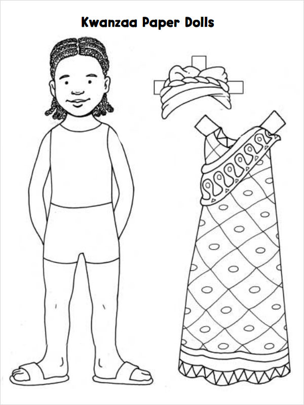 8 paper doll samples sample templates for Paper doll templates cut out