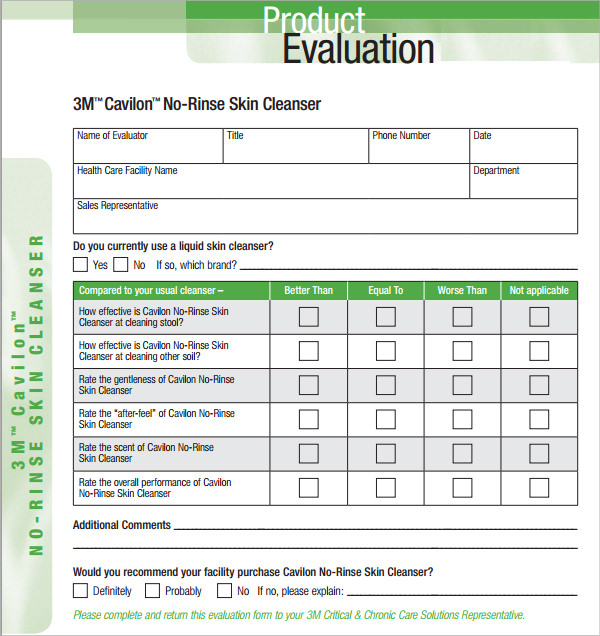 Product Evaluation   Download Free Documents In Pdf Word Excel