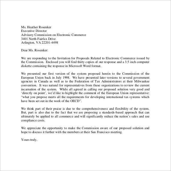 proposal introduction letter
