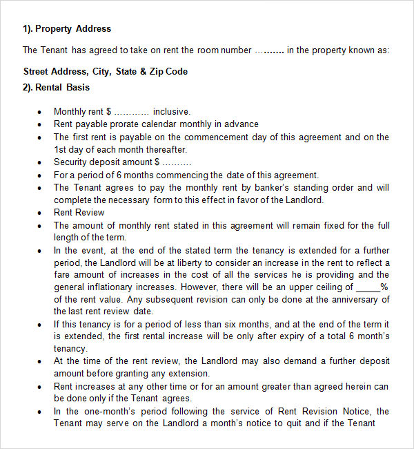 room rental contract template free Free Online Form Templates – Free Online Contracts Templates