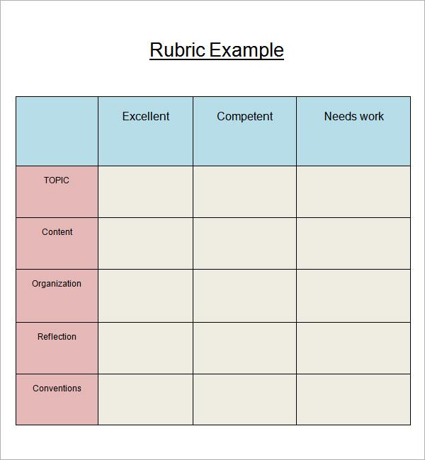 rubric template