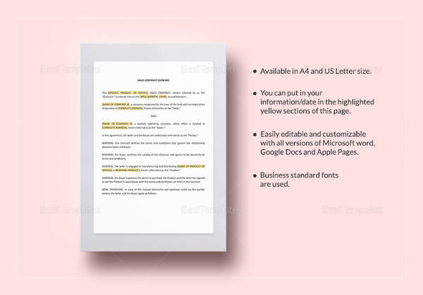 sales contract template2