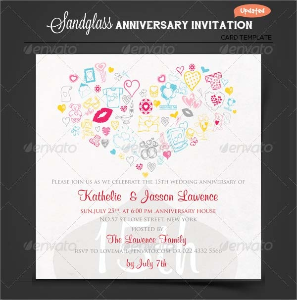 Anniversary invitation template 12 download premium and free sample anniversary invitation template stopboris Image collections