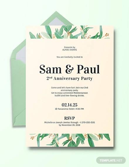 16 Sample Amazing Anniversary Invitation Templates Psd Ai