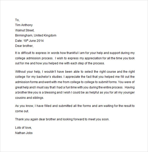 Sample Appreciation Letter - 8+ Free Documents Download In Word