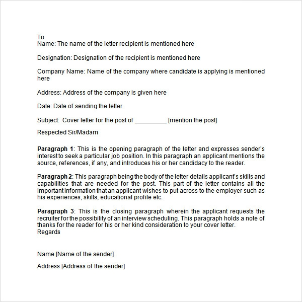 Application letter 9 free doc download sample format cover letter spiritdancerdesigns