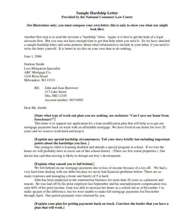 Effective Hardship Letter For Loan Modification from images.sampletemplates.com