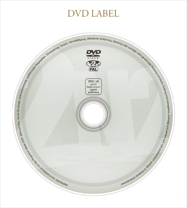 simple dvd label template free download
