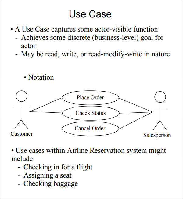 Sample use case 6 documents in word pdf simple use case template saigontimesfo