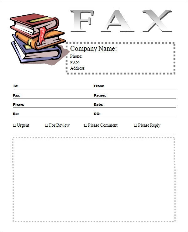 sample cover sheet template