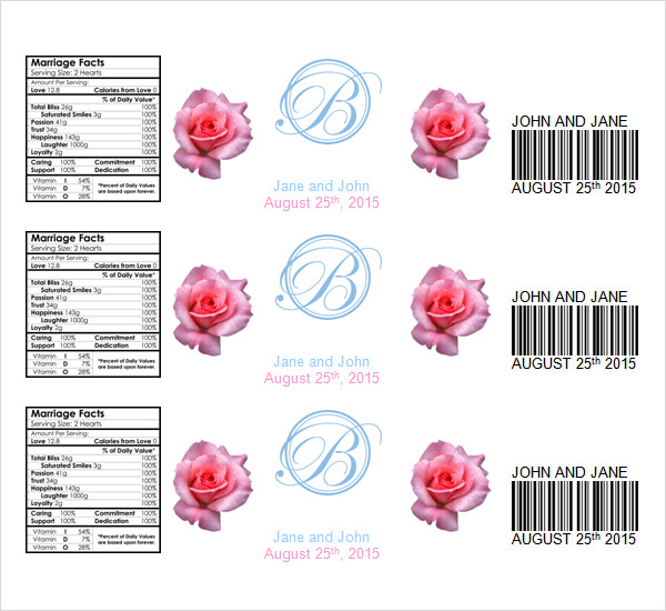 24 sample water bottle label templates to download sample templates for Water bottle labels template word
