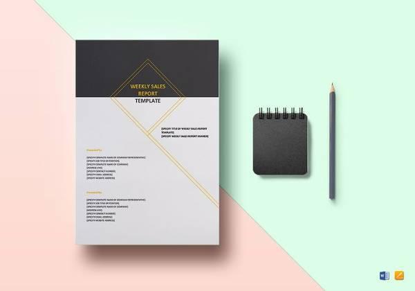 weekly sales report design template