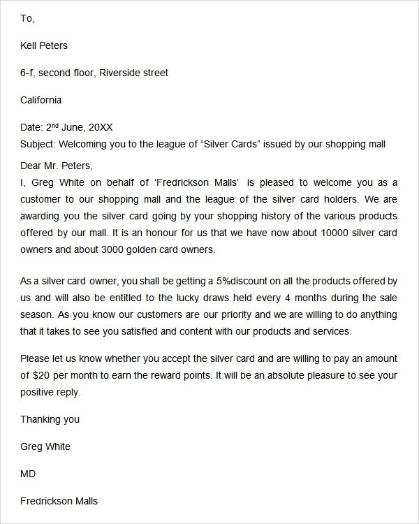 Welcome Letter 9 Free Doc Download