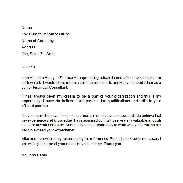 Application Letter   Free Doc Download