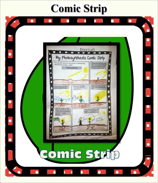 blank comic strip template