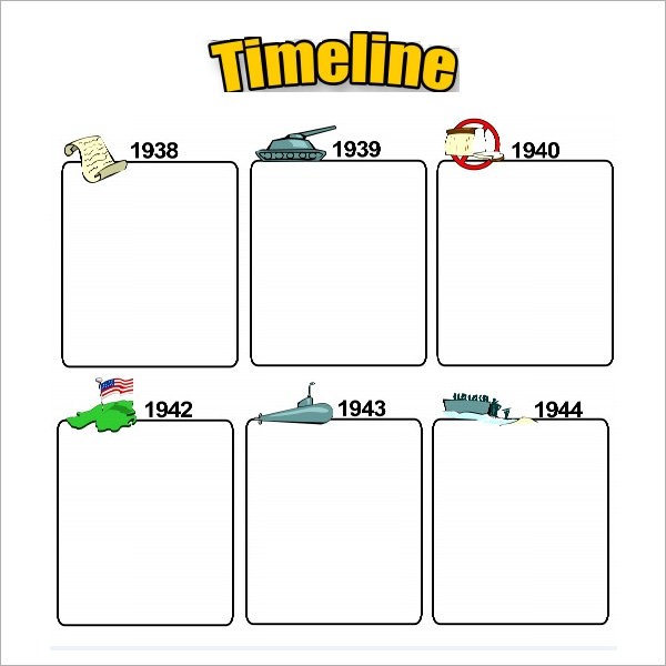 sample blank timeline template 4 free documents download in pdf
