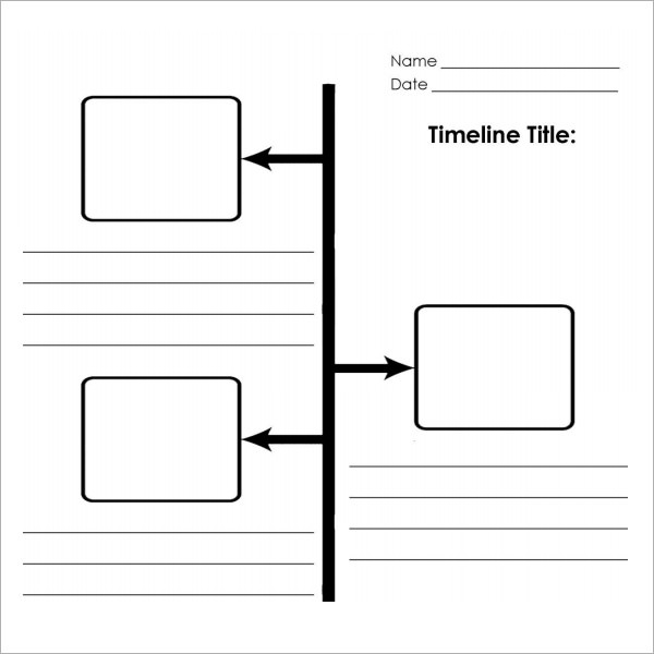 Blank timeline template 6 the image kid for Timline template