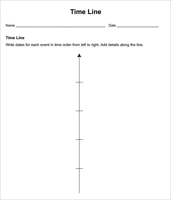 Sample Blank Timeline Template   Free Documents Download In Pdf