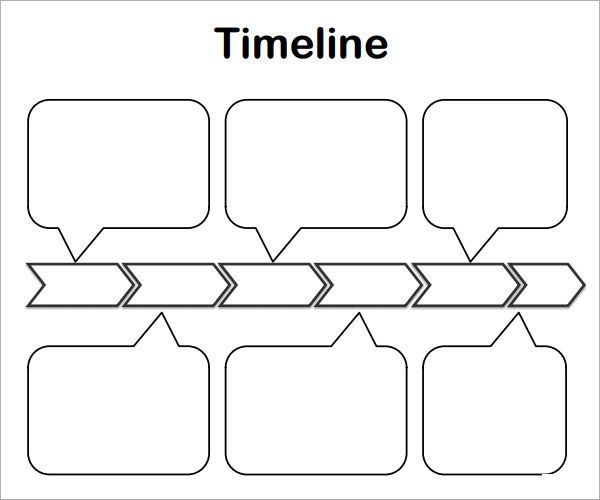 Sample Blank Timeline Template   Free Documents Download In