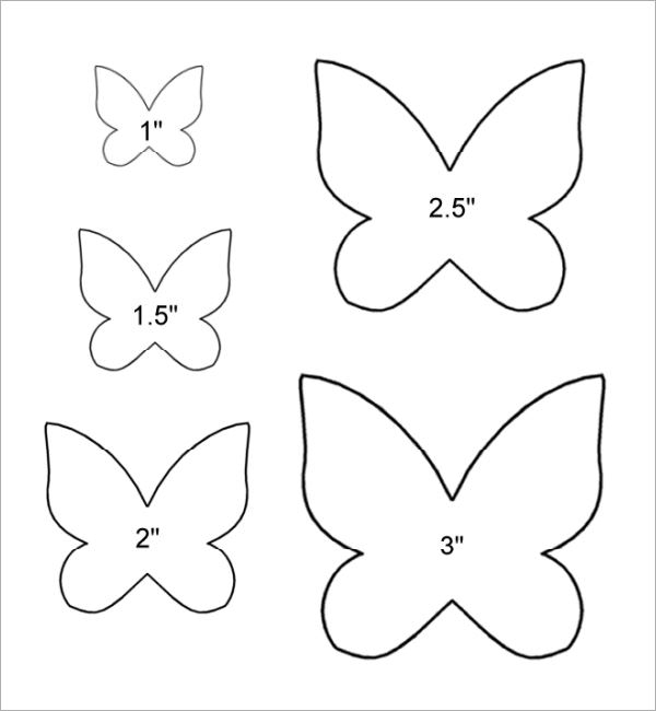 photo regarding Butterfly Template Printable titled Totally free 9+ Butterfly Samples inside of PDF