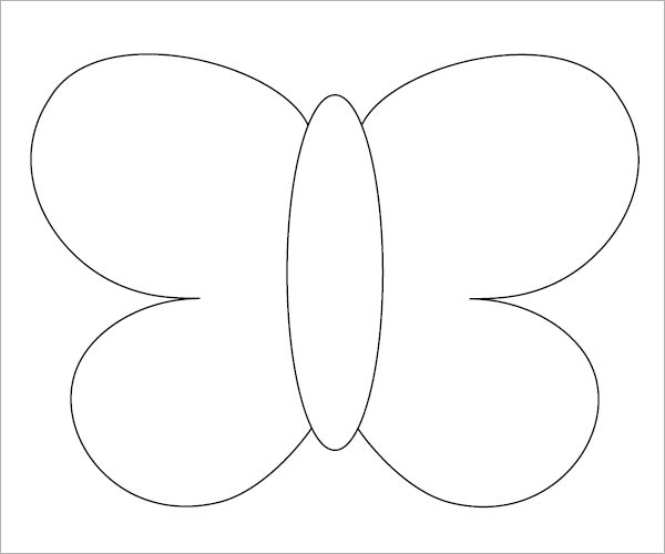 Butterfly template 9 free pdf download for Butterfly template pdf