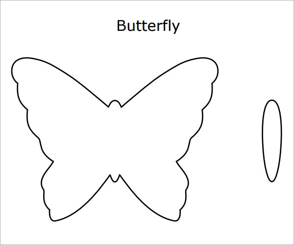 Simple paper doll pattern newhairstylesformen2014com for Butterfly template pdf