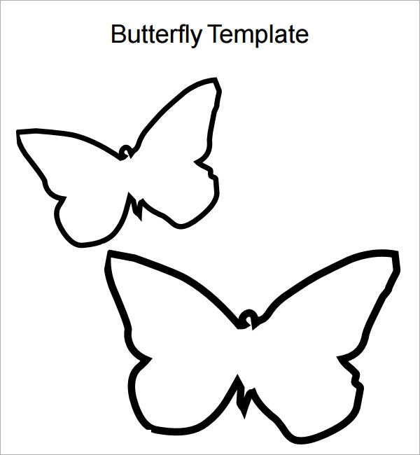 picture relating to Butterfly Template Printable called Totally free 9+ Butterfly Samples within just PDF