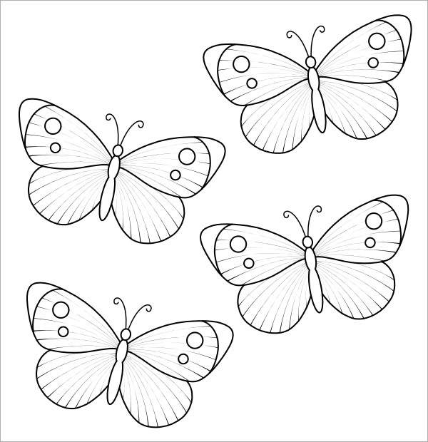 Sample butterfly 9 documents in pdf for Butterfly template pdf