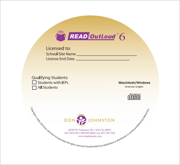 cd label template download