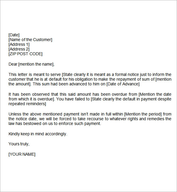 sample letter of demand for liquidated damages doc by robinishere
