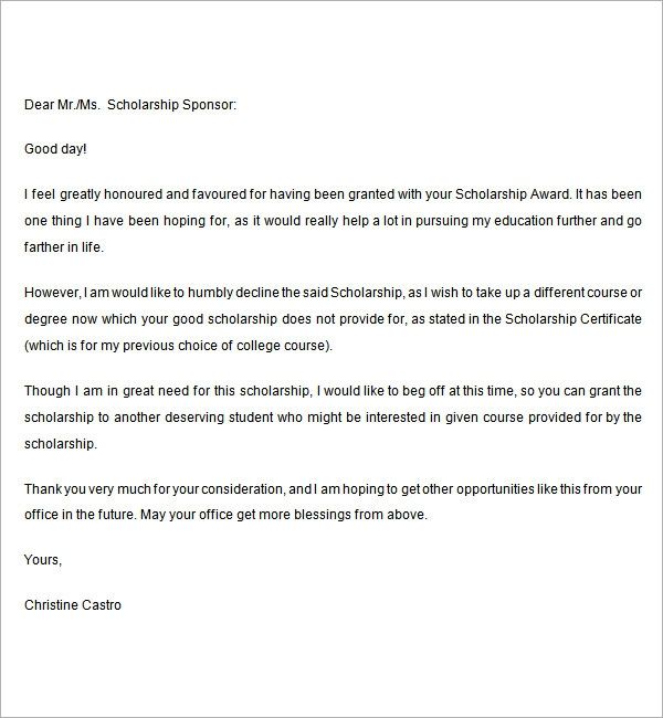 College Rejection Letter Sample - All About Design Letter