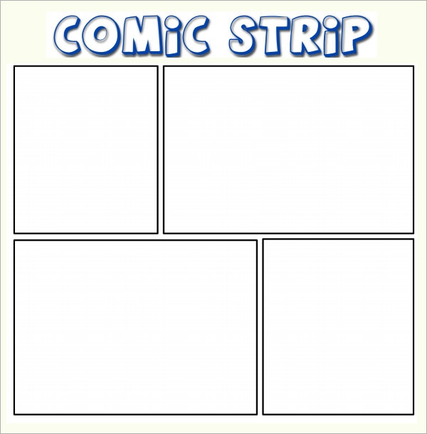 Sample Comic Strip 6 Documents in PDF – Comic Strip Template