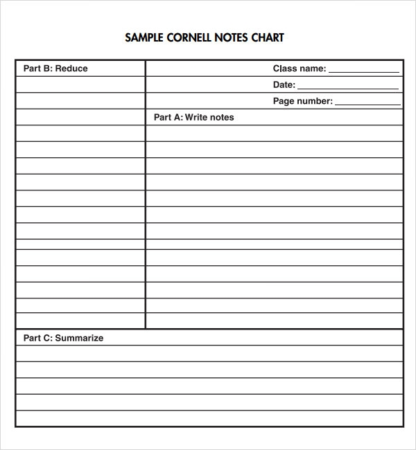 Avid Cornell Notes Template cornell note template   9  free pdf doc 5nd81iR7