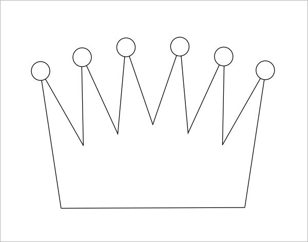 crown template cut out