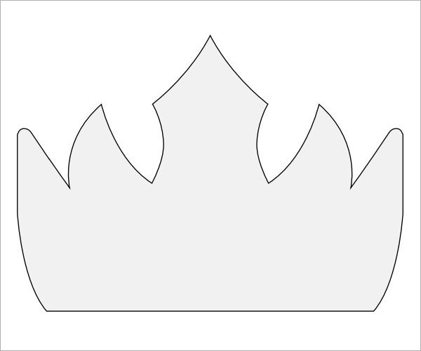 King crown template search results calendar 2015 for Kings crown template for kids