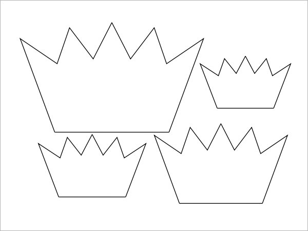Simple king crown outline - photo#21