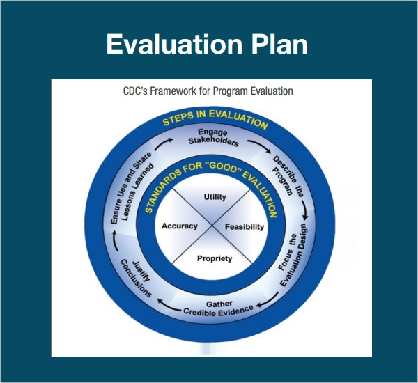 evaluation plan sample