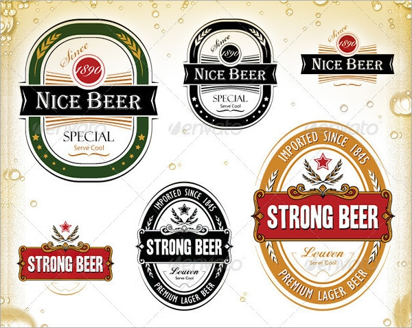 6 sample beer label templates to download sample templates With free printable beer labels