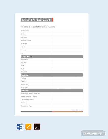 free event planning checklist1