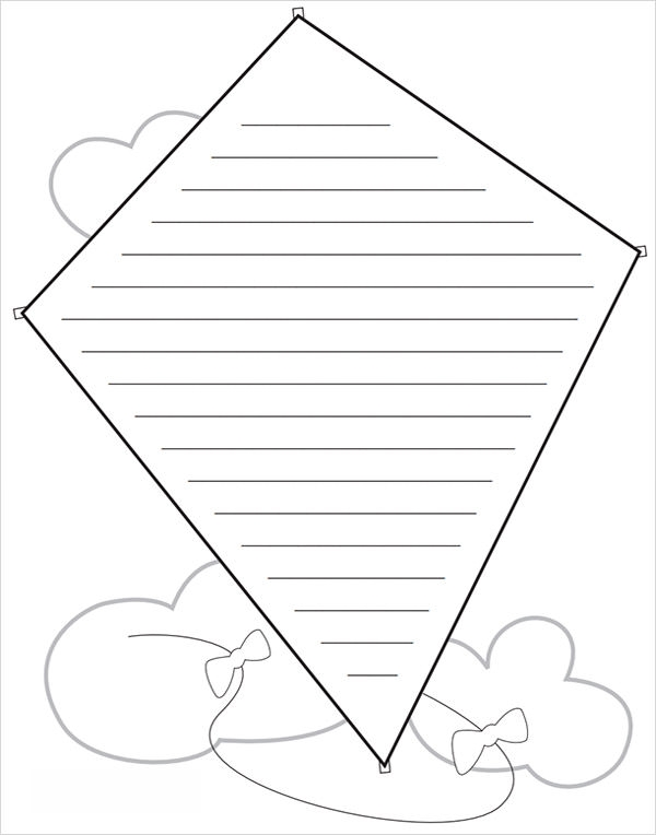 kite template for bulletin board