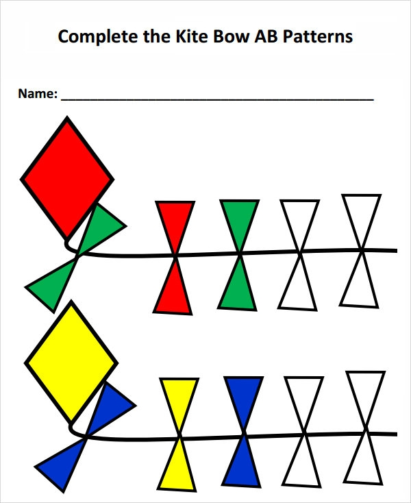kite template with bows