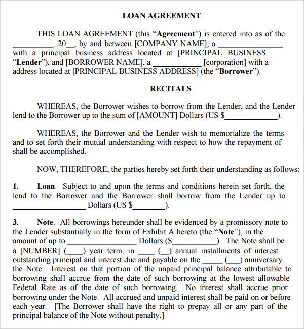 Legal contract template legal contract template for borrowing money altavistaventures Image collections